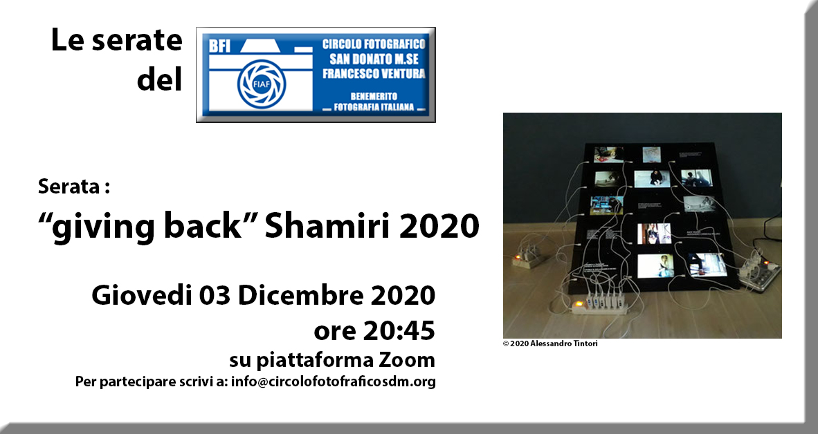 "Serata al circolo – ""giving back"" Shamiri 2020"