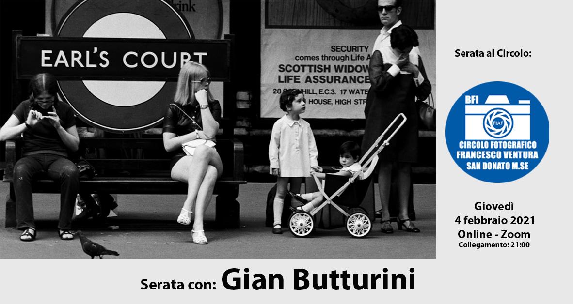 Serata con Gian Butturini